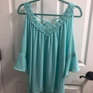Cold shoulder blouse